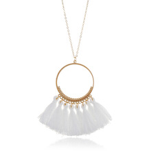 Wholesale Fashion Simple Women Handmade Voluble Tassel Necklace