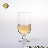 2018 handmade wine glass brandy glass clear short stem wine glass with small size cup