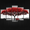 wholesale printed canvas painting wall art money tree 5 panels canvas printints