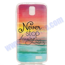 Cheap Price Never Stop Dreaming Pattern TPU Cover for Lenovo A328