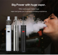 kamry 160W kamry X6 plus e cig test tube mod lite 160W smoking mod kit with built-in battery and glass tank
