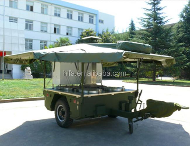 Leger veld mobiele keuken trailer militaire mobiele keuken trailer