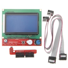 LCD12864 RAMPS1.4 Controller + Switch Board + 30cm Cable LCD Control Panel 3D Printer Controller Display Monitor Module