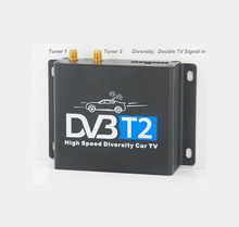 singapore dvb t2 set top box Car DVB-T2 2 tuner 2 antenna twin Digital TV receiver Siano chipset high speed