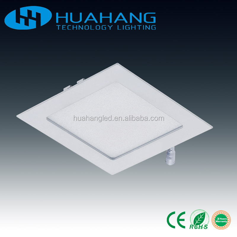 circle round or square panel lamp 3w 4w 6w 8w 9w 12w 15w 18w 24w LED flat panel light square shape