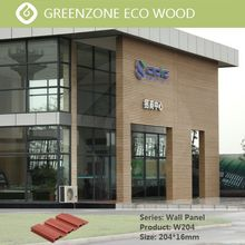 China factory Wpc wall panel Uv protection Pvc Outdoor Plastic Decorative Siding from Foshan Greenzone