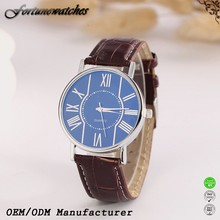 Stainless steel watch japan movement diy leather watch fashion man watch