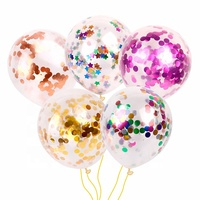 Amazon hot 12 inch thickening multicolor giant confetti balloon