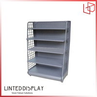 Flooring movable merchandising stand display shelf