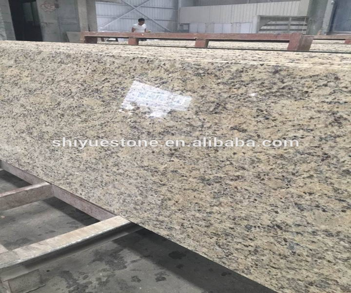 Giallo Cecilia granite kitchen countertops 2+2cm flat polished edge