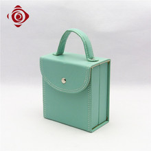 Hard side makeup case PU leather bag beautify cosmetic box