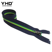 5# Plastic colored open ended zips tape two color vislon designer derlin zippers insertion pin