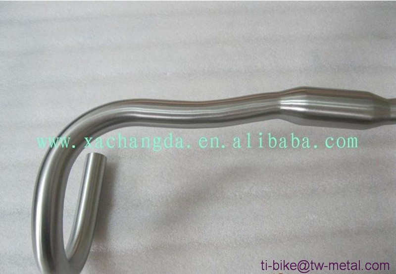 New design!! Curved Titanium handle bars road Ti Bicycle Bars MTB XACD Titanium handle bars made in china