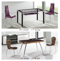 high quality 4 seater glass dining table factory sell directly YY15