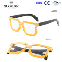 Printing logo Customization Party glasses colourful pixel sunglasses
