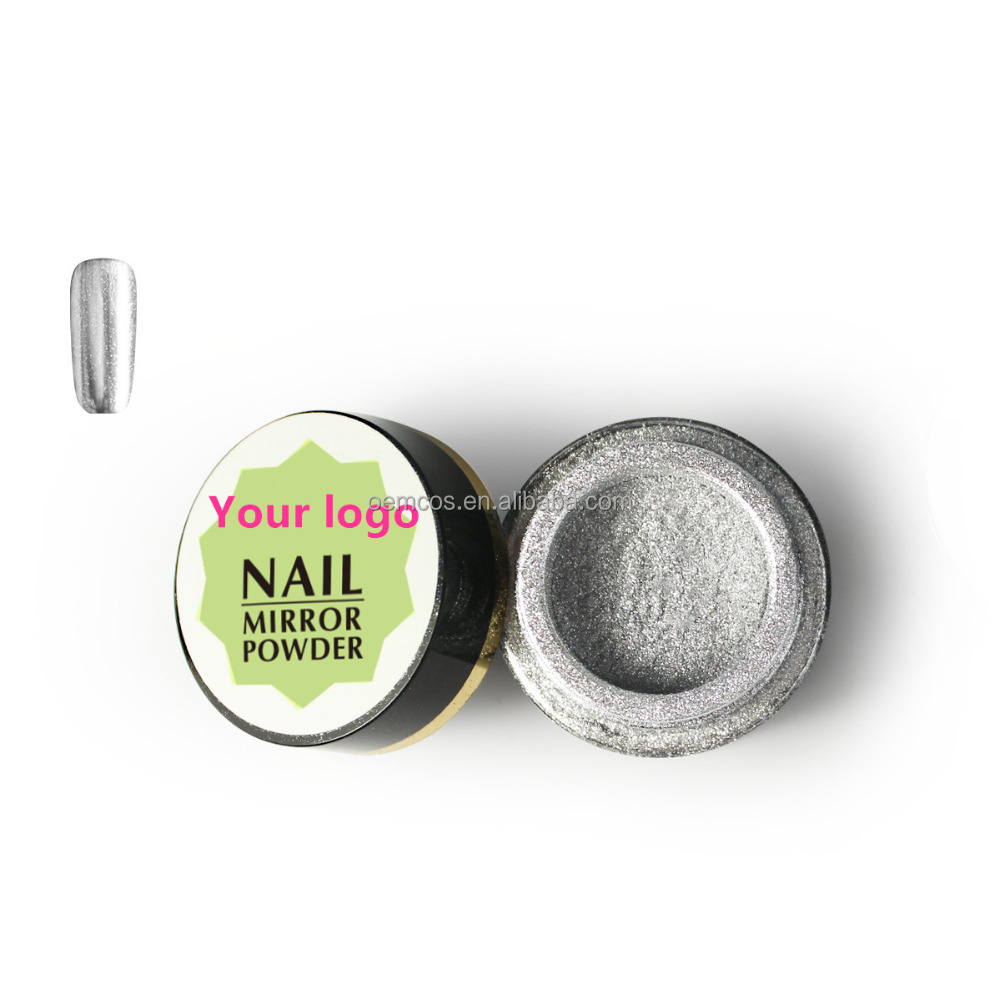 Private logo Silver color/Metal color nails chrome pigment
