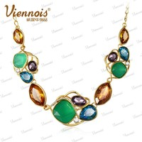 Viennois fashion stone bead necklace 2015