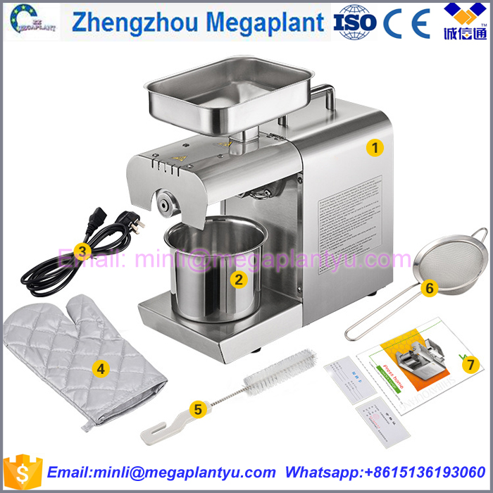Stainless stell mini home argan sesame cold press oil extraction machine
