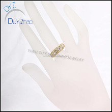 cheap gold/silver wedding ring pink cz small diamond forever love