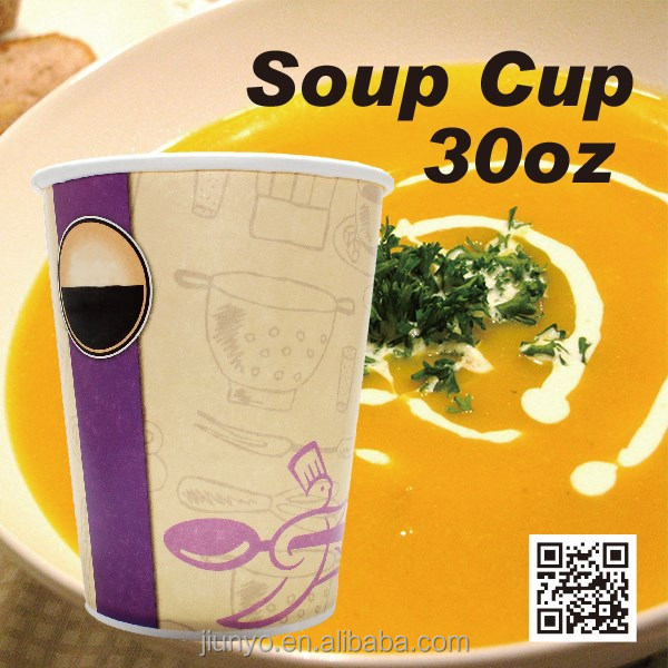 recycle disposable paper soup <strong>cup</strong>