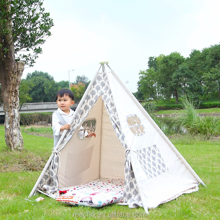 Wholesale Small Canvas Indoor Children Play Folding Bed Camping Tent