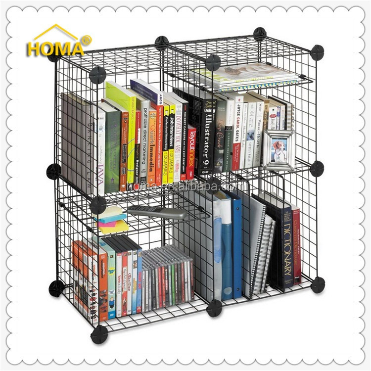 Strong grid wire modular shelving and storage cubes