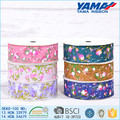 Hot sale compatible washable flower jacquard silk ribbon wholesale