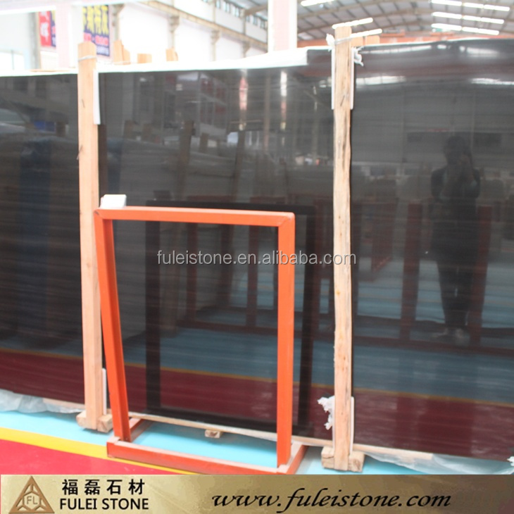 Cheap Wooden Black marble slab price