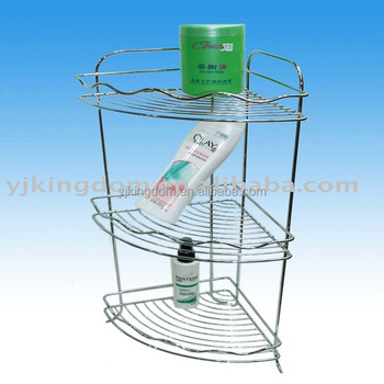 541-23A1 3-tier corner metal wire shower rack