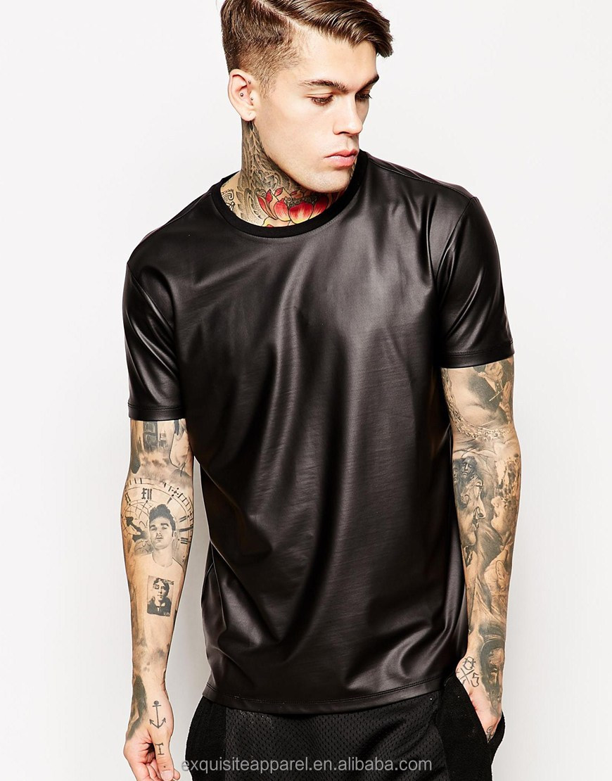 Shop discounted leather sleeve & more on palmmetrf1.ga Save money on millions of top products at low prices, worldwide for over 10 years. Welcome! New Crocodile leather mens black short-sleeved T-shirt $ Bought by 20+ New arrival leather slim men knitted long-sleeve Tshirt $