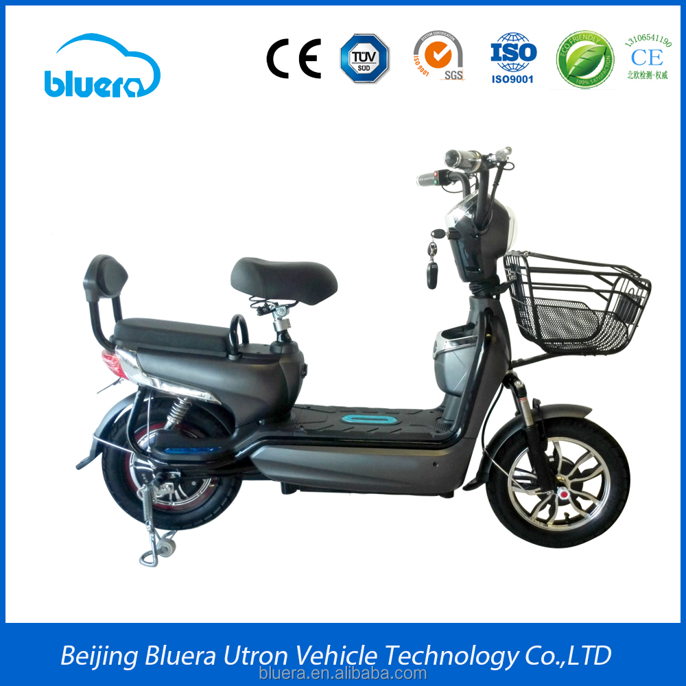 Bluera classic series fancy C2 import green power electric bike with 350w motor 48v12ah battery for sale