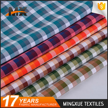 Online shopping latest fashionable design stretch polyester woven yarn dyed fabric for clothing