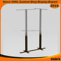 Simplestyle garment store 4 way adjustable floor display stand