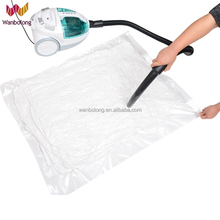 High quality large plastic zipper vacuum seal bag for bedding, clothing