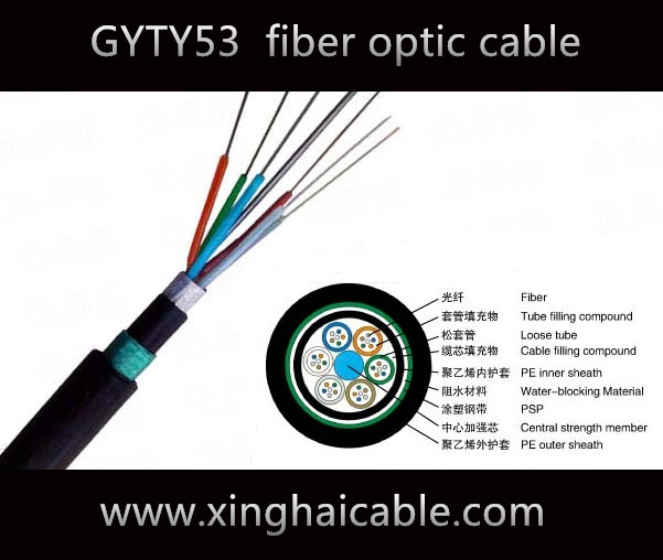ISO 36 core GYTY53 fiber cable supplier