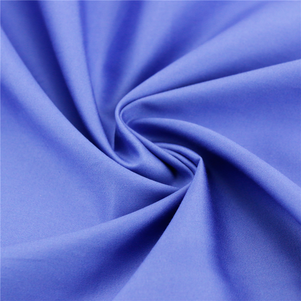 60x60/200x112/195x60 120gsm 152cm blue satin stretch fabric 97 cotton 3 spandex sateen fabric