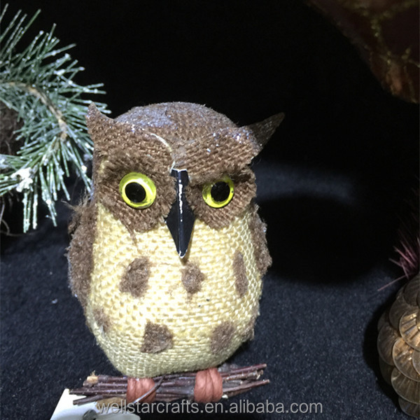 2016 hot sales new product home crafts holiday decorations handmade Christmas owl