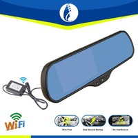 5 inch wifi wireless Android 5.1 GPS HD car rearview mirror mp5 DVR driver recorder hd car dvr camera