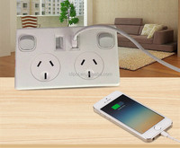 Australia Standard SAA approved domestic wall socket with USB