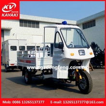 Chinese 3 wheel gas operated cleaing garbage motorized tricycle