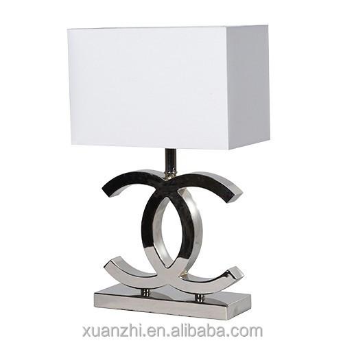 Td49 Black White Modern Cc Table Lamp White Light