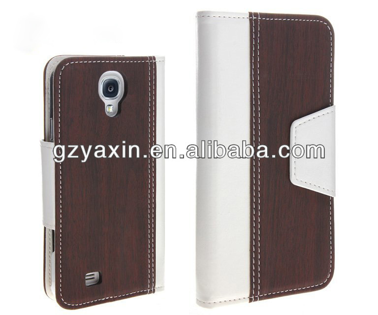 Wallet pu leather case for samusng i9500 with factory wholesale