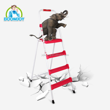 boomjoy T-4 Super safe 4 steps folding ladder for household use/ aluminum wide step ladder/ 250kg max load