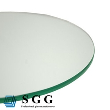 Tempered table top glass with customized size