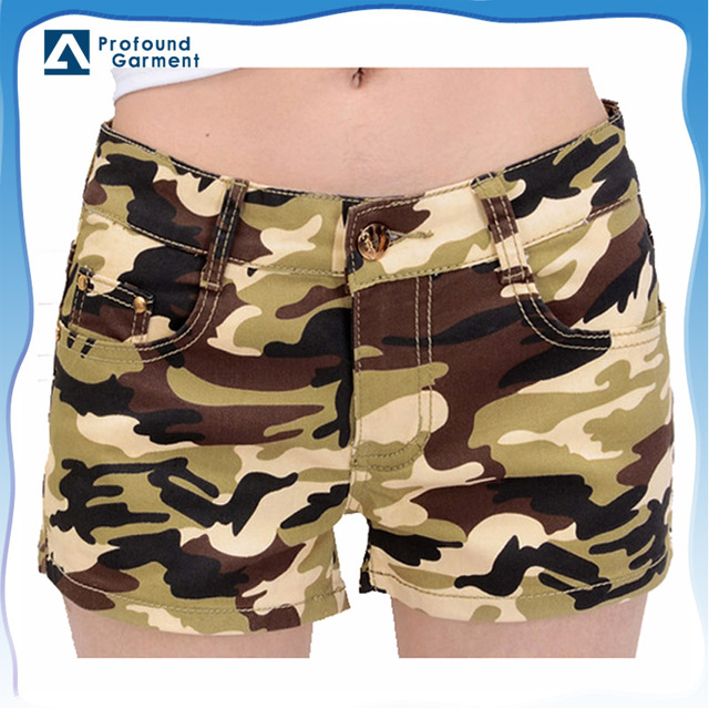 wholesale camouflage clothing women's camouflage jeans shorts pants