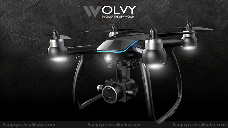 New products Wolvy 2.4G 4 axis GPS Drone with 1080P wifi camera drone rc Quadcopter professional PK B2W