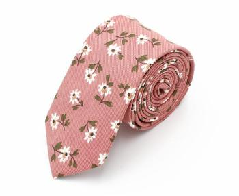 Cheap Floral Polyester Neckties Ties with custom logo