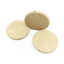 professional handmade unfinished flat wooden round beads