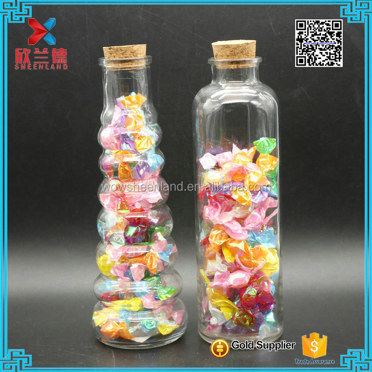 wholesale 40-510ml different shapes Hand-made glass candy jars