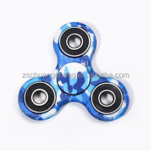 2017 Hot sales pop promotional Tri rainbow hand spinner made by metal hand spinner edc finger toys